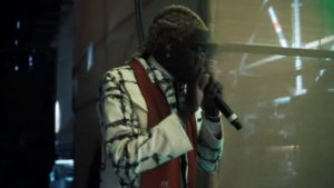 Young Thug at Dakar Rally closing performance