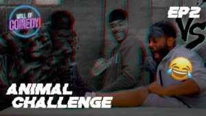 SPUDDZ, BAILEY & FU-IZZY TAKE ON THE ANIMAL CHALLENGE 😂   Vs. EP 2