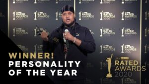 Personality of the Year – Chunkz Winner Speech | Rated Awards 2020