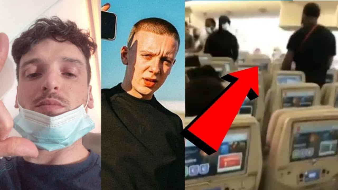 OFB Vs Tion Wayne On Plane. Tion Wayne Swings for Headie One
