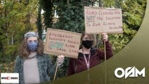 Open Our Roads – Protest in Crystal Palace 01/11/2020 | #OSMVision