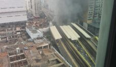 Elephant and Castle station is on fire