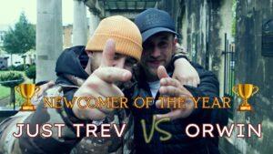 Rap Battle – Just Trev Vs Orwin | 🏆 Newcomer Of The Year 🏆  | Don't Flop #StreetBattles